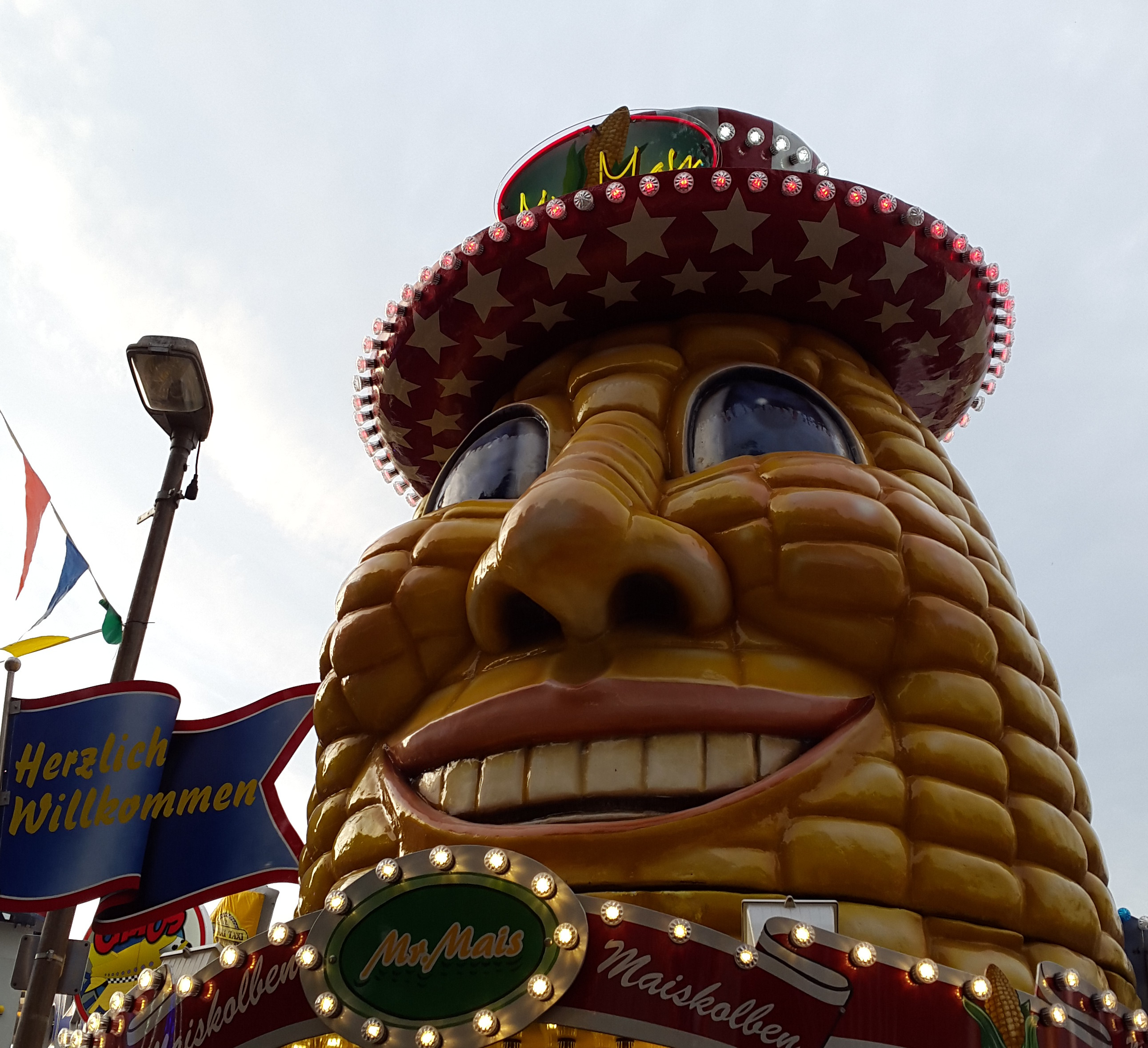 Picture of a corn with a friendly face